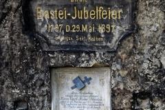 Basteibrücke - Gedenktafel Jubelfeier
