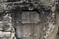 Basteibrücke - Gedenktafel Friedrich August